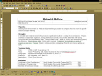 Microsoft Word version of resume